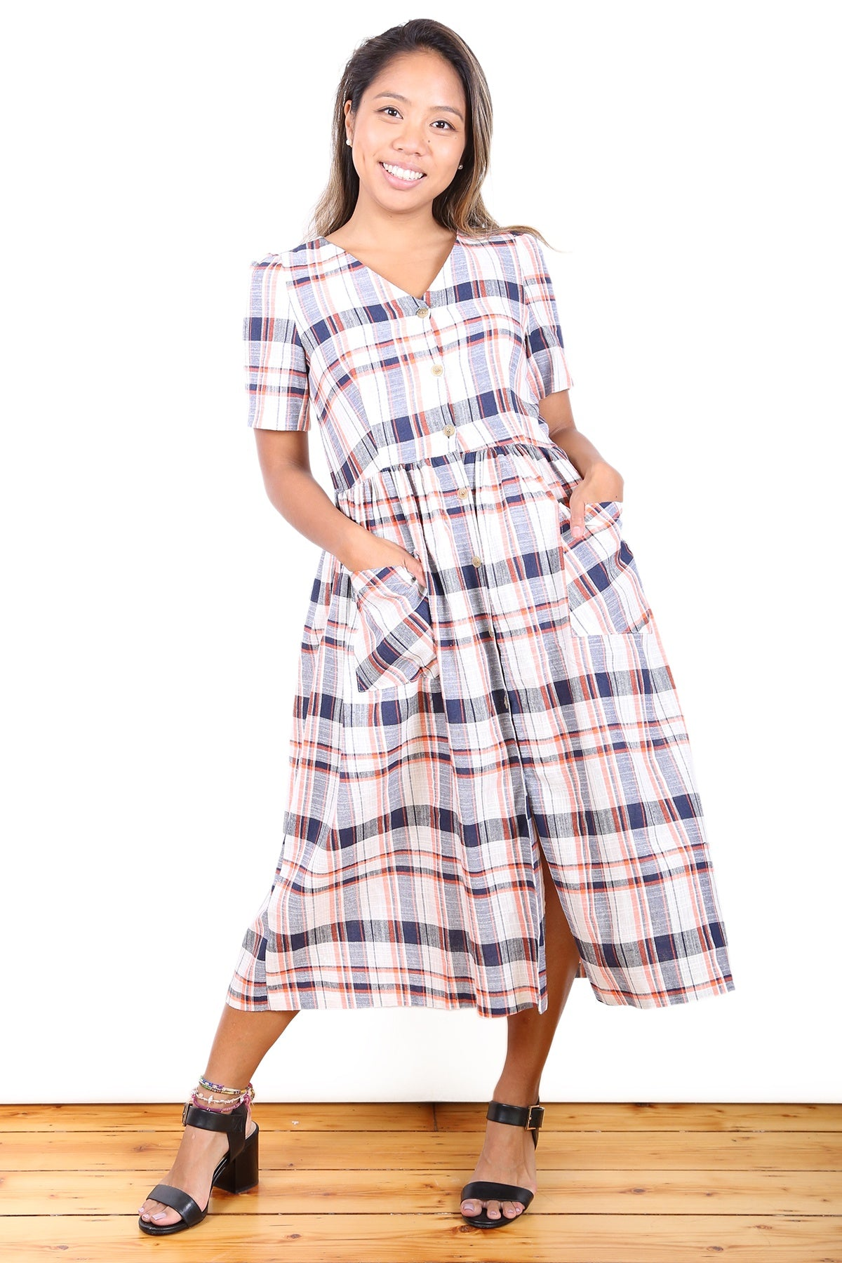 Highland Rose Tartan Dress