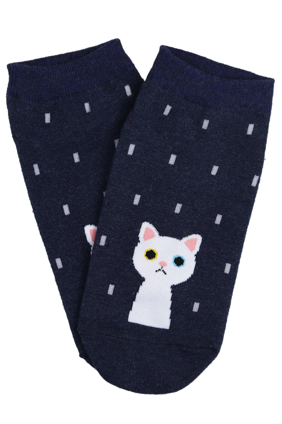 Raining Cat Cotton Ankle Socks
