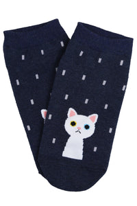 Wet Cat Cotton Ankle Socks