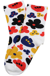 Fabulous Flower Cotton Socks White