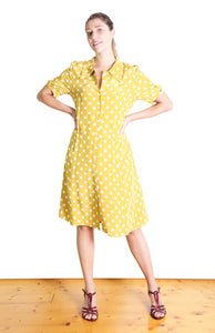 Spotty Lotte Dress Yellow