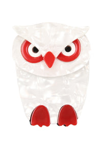 Harriet The White Owl Broach