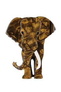Edward The Bronze Elephant Broach
