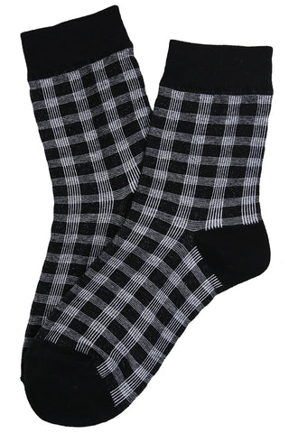 Dappled Cotton Socks Black