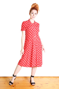 Spotty Lotte Dress Red