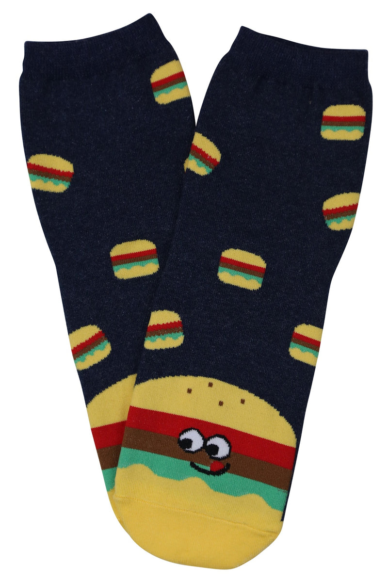Happy Hamburger Cotton Socks
