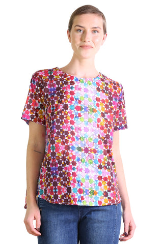 Kaleidoscope Cotton Top Pink