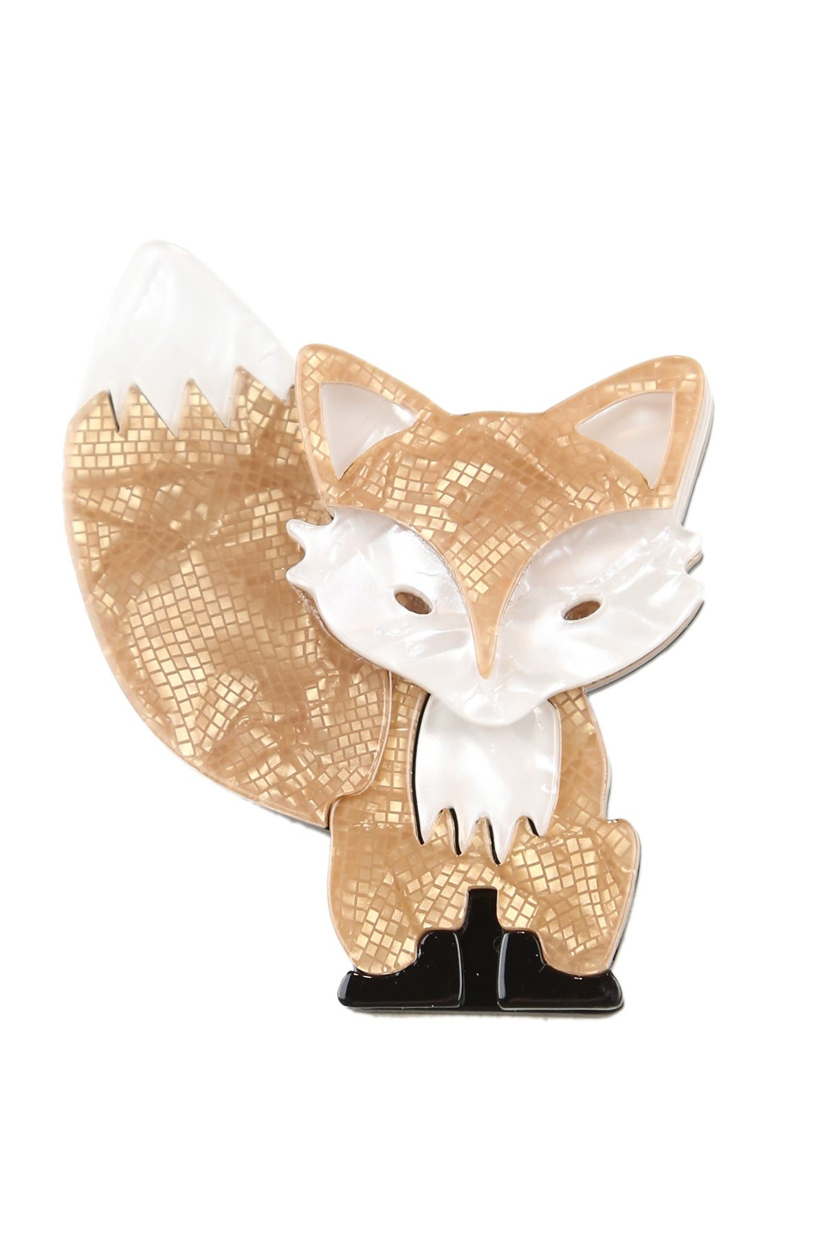 Doris The Gold Fox Broach