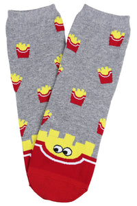 Hot Chips Cotton Socks Grey