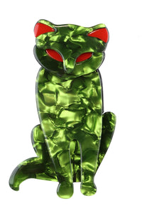 Grace The Green Cat Broach