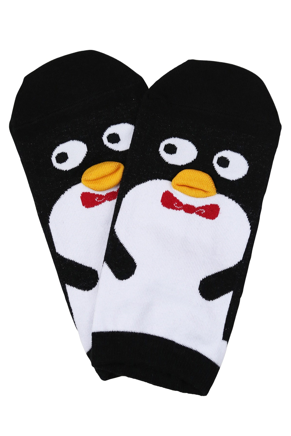 Polite Penguin Cotton Socks