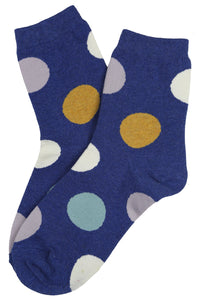 Super Spot Cotton Socks Blue