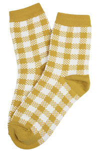 Charlie Checker Socks Mustard