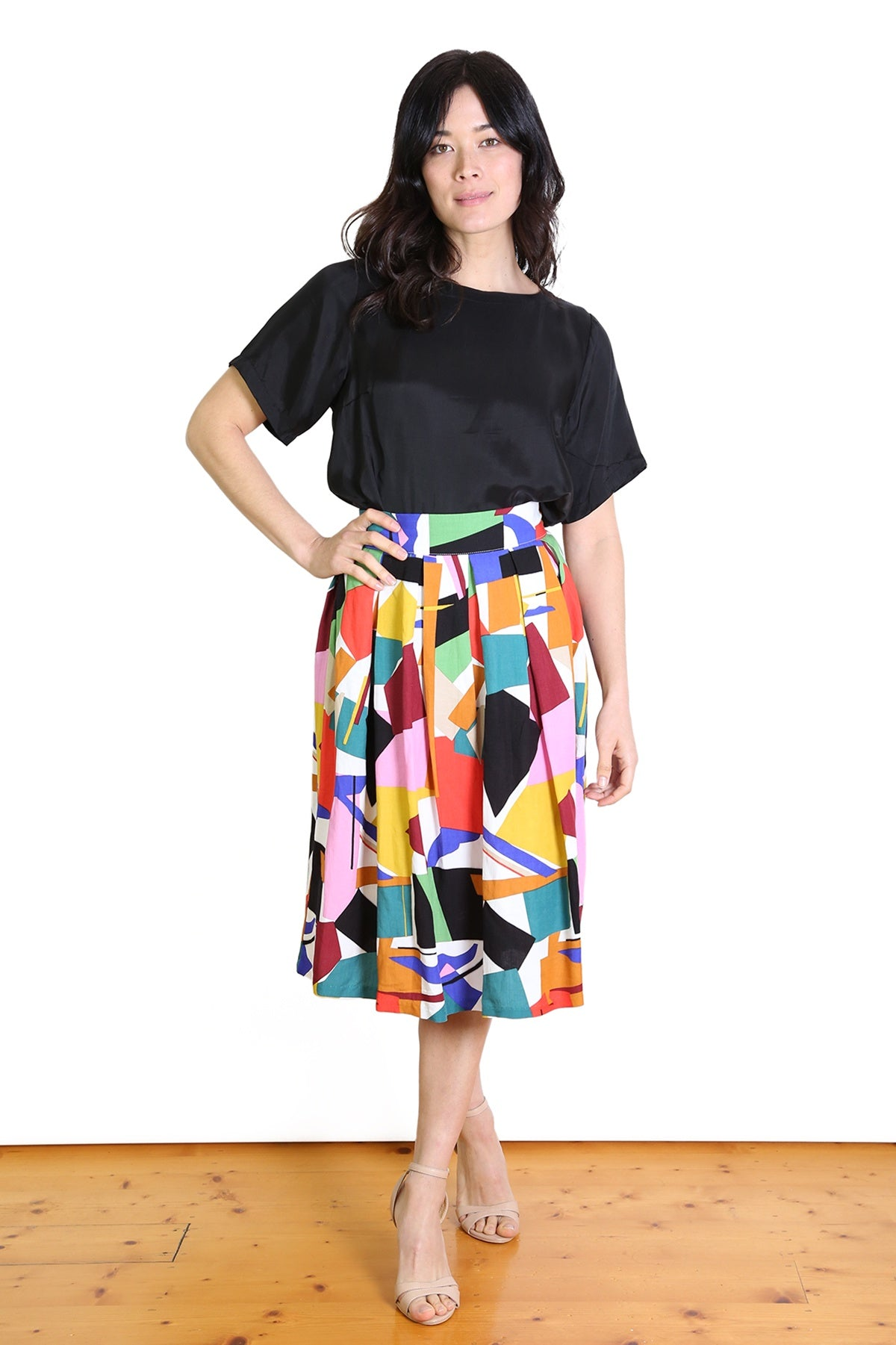 Louisa Linen Midi Skirt