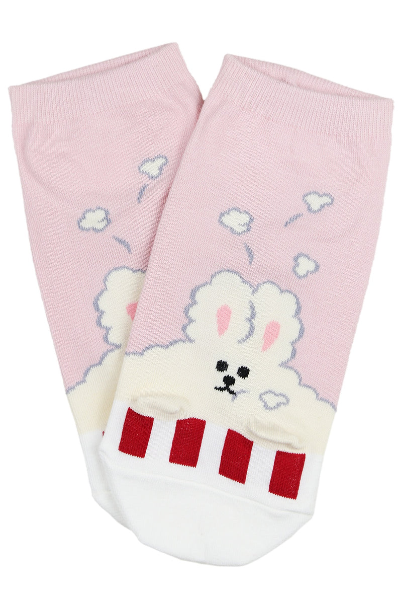 Cloud Bunny Cotton Ankle Socks Grey