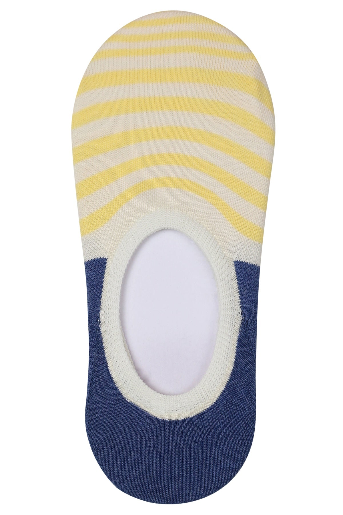 Striped Cotton Sockettes Yellow