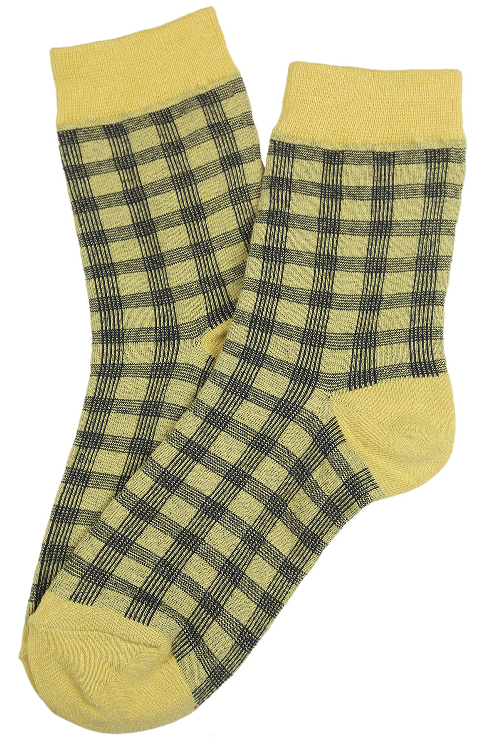 Dappled Cotton Socks Yellow