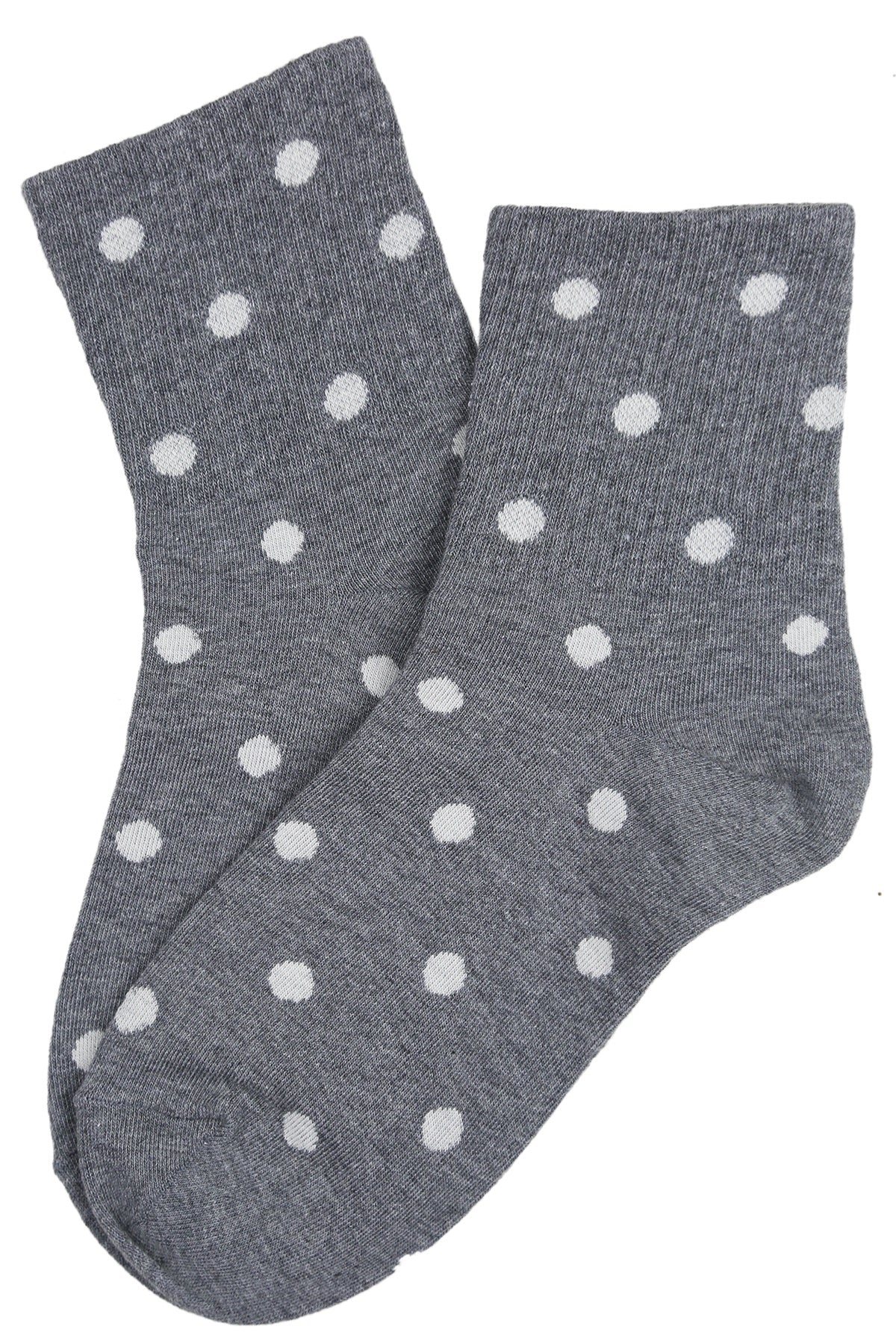Sally Spotty Cotton Socks Grey