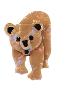 Beatrice The Brown Bear Broach