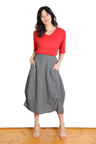 South East Milwaukee Cotton/Linen Skirt - Black