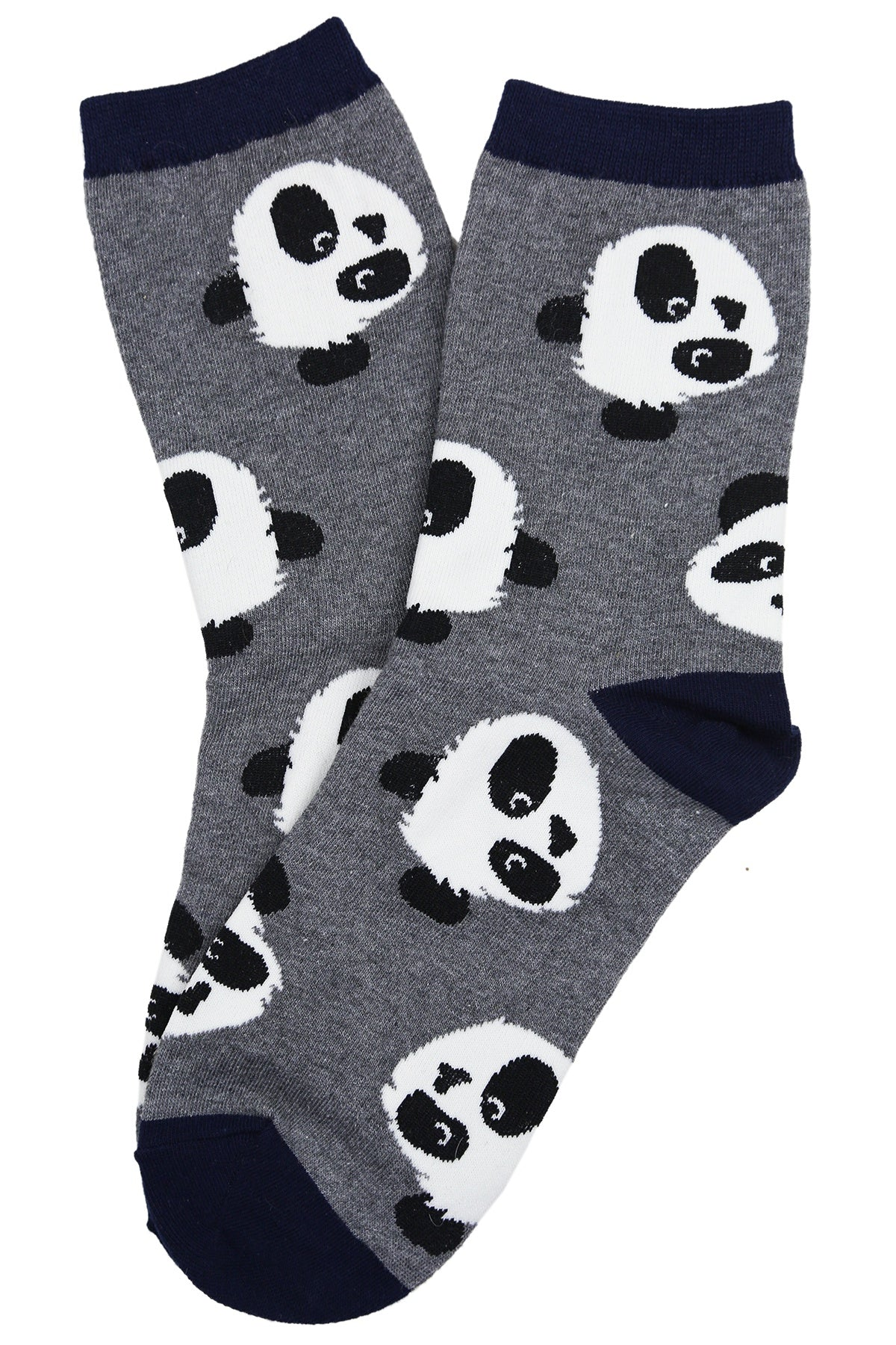 Penny the Panda Cotton Socks Grey