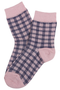 Dappled Cotton Socks Pink