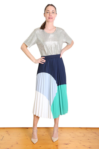 Dorothy Pleat Skirt Green