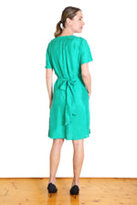 Agatha Tie Dress Emerald Green