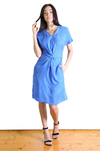 Agatha Tie Dress Sky Blue