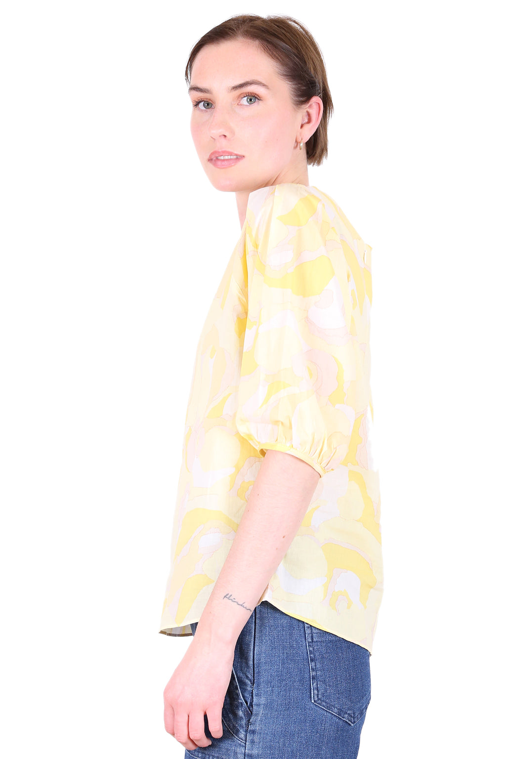 Alice Springs Cotton Blouse Lemon