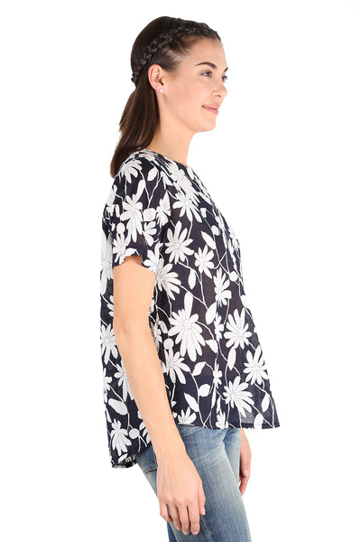 Arizona Seer Top Navy