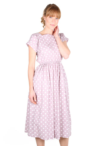 Audrey Spot Dress Lilac
