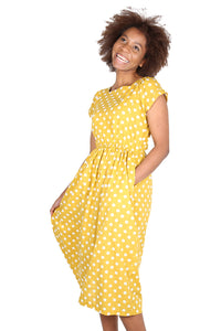 AUDREY SPOT Dress Yellow