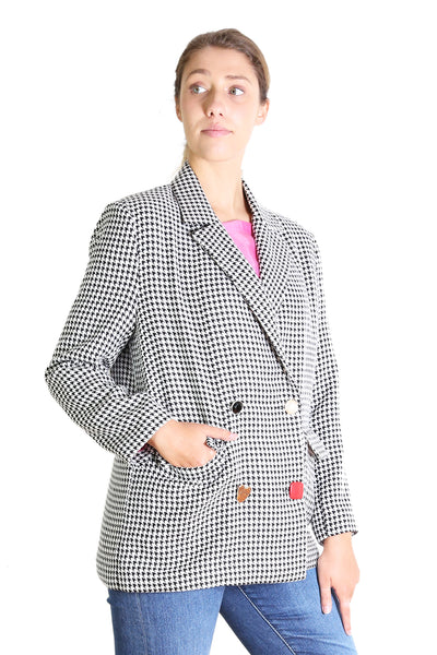 Evelyn Blazer Black & White