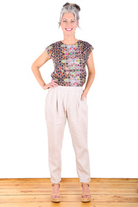Bacetta Cotton Pants Beige