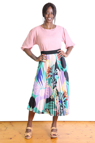 Barbados Pleated Skirt