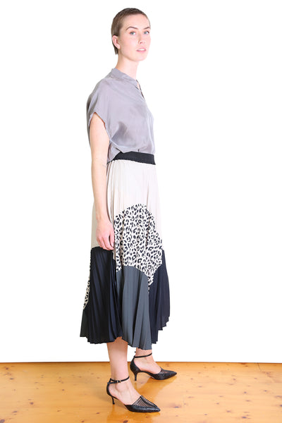 Betty Pleat Skirt Ivory