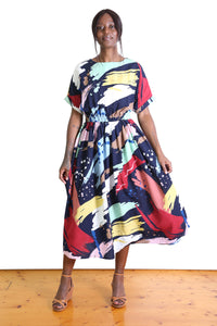 Bowling Alley Dress Navy