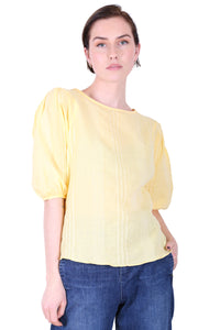 Brighton Cotton Blouse Lemon