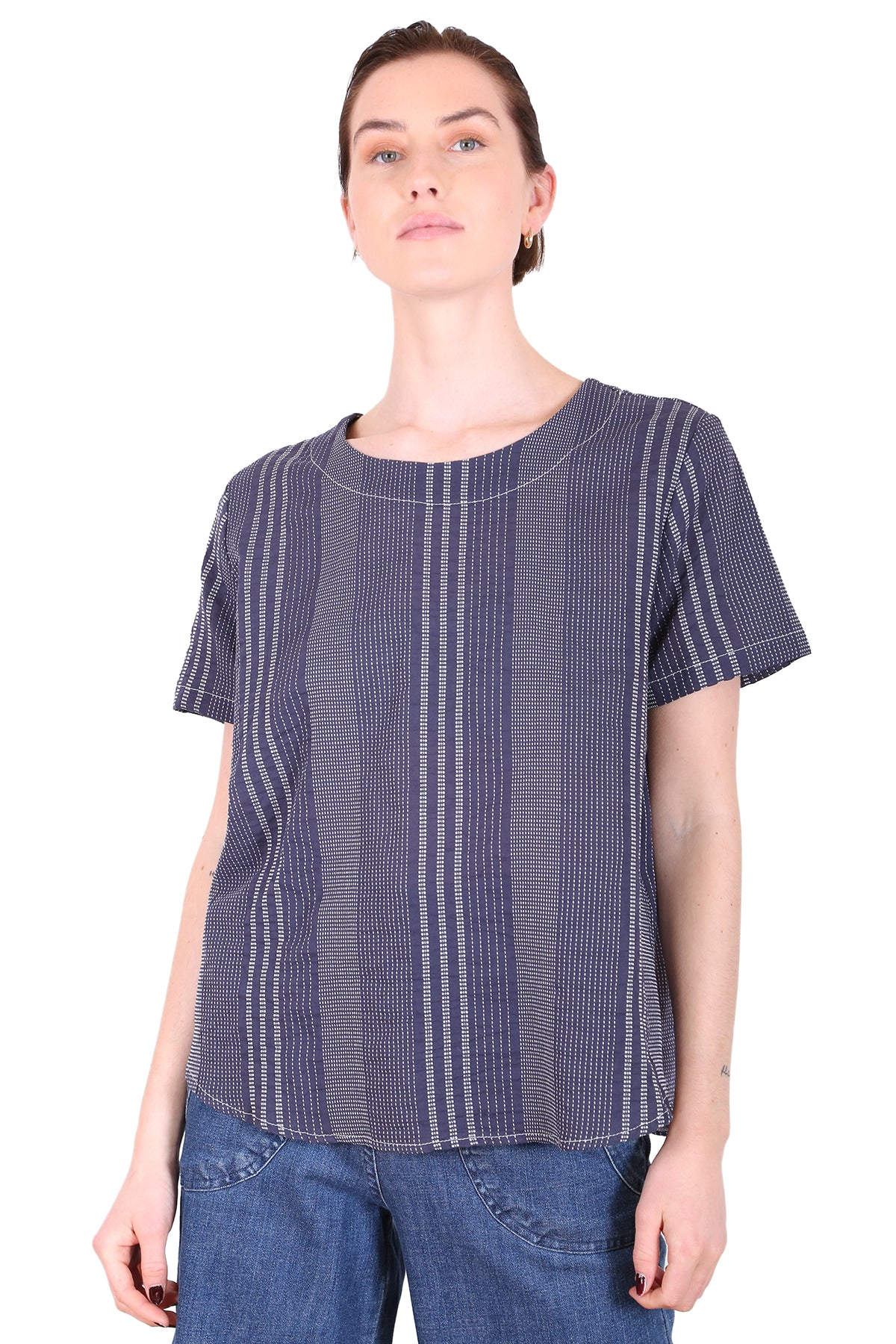 Brighton Cotton Top Navy