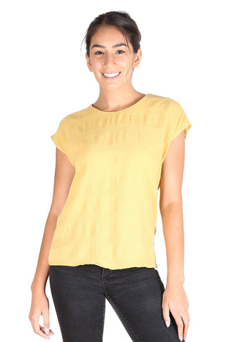 Cromwell Textured Tee Yellow