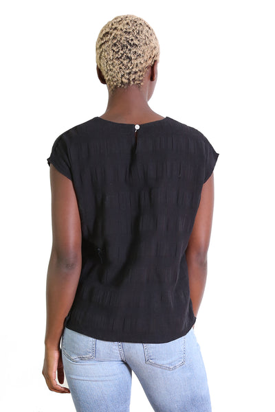 Cromwell Textured Top Black