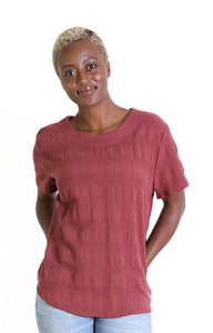 Cromwell Textured Top Maroon