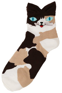 Pointy Eared Alley Cat Cotton Socks Camo