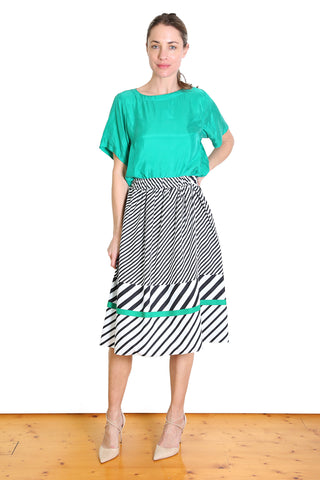 Capri Cotton Skirt Green