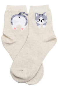Cheeky Cat Cotton Socks