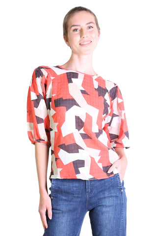 Cutting Edge Seer Blouse Orange