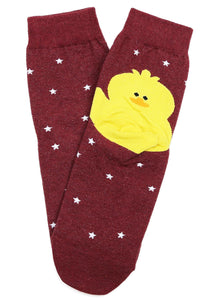 Duckling Star Cotton Socks Vino