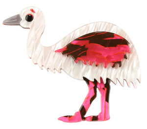 Elsa The Pink Emu Broach