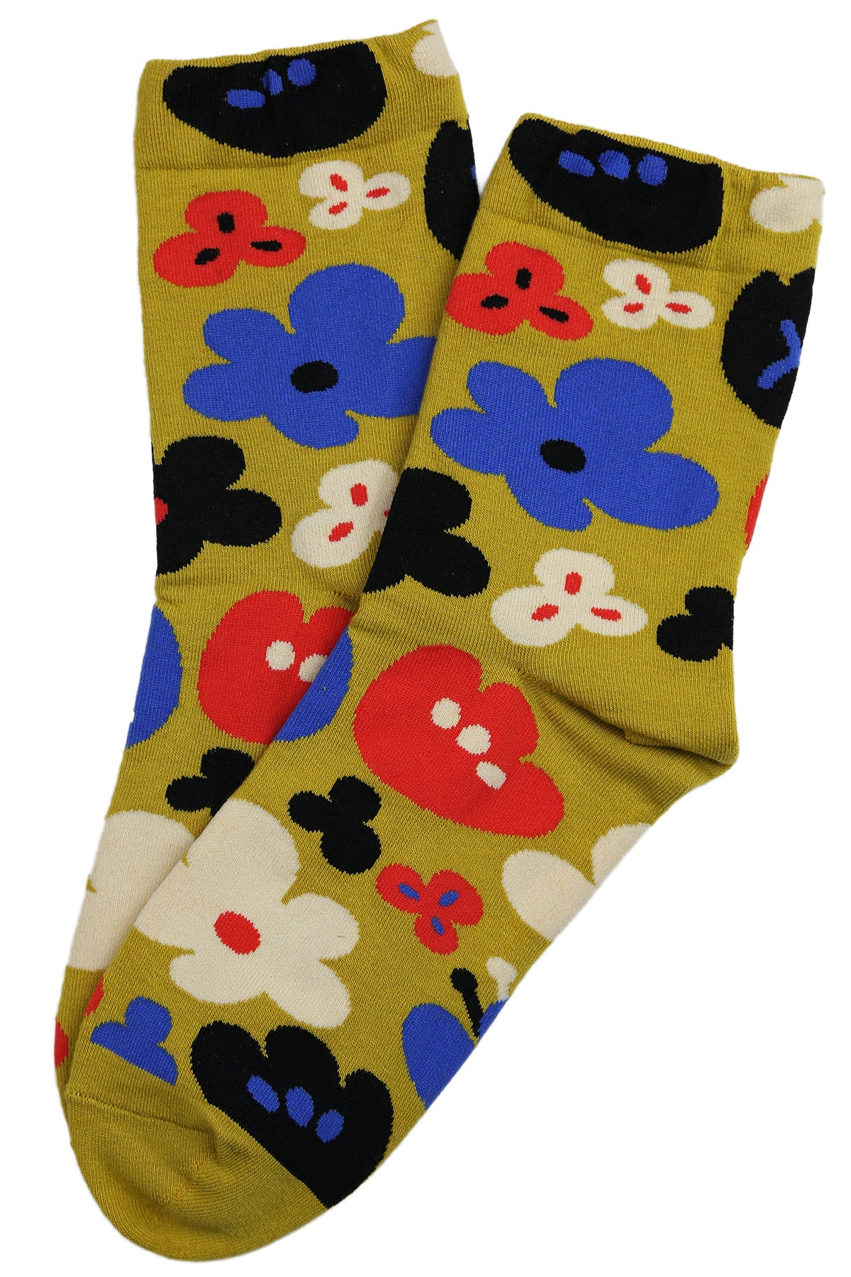 Fabulous Flower Cotton Socks Yellow